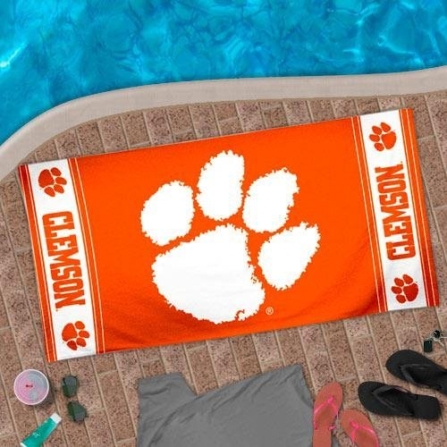 "NCAA Clemson Tigers 30"" x 60"" Logo Beach Towel - Orange at Amazon.com"