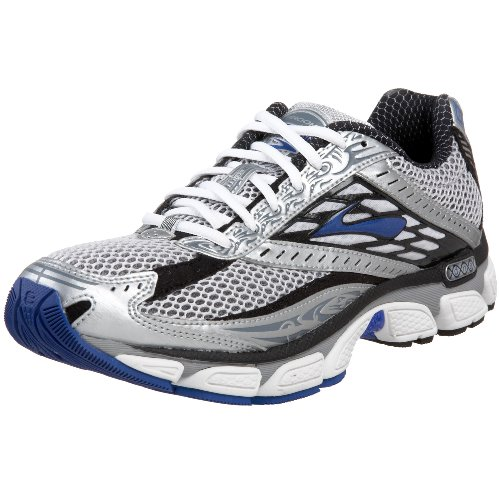 Brooks Men's Glycerin 8 Running Shoe, Silver/Black/Royal/White, 10 B
