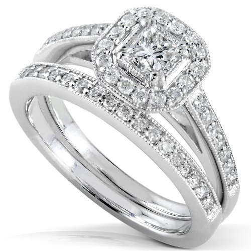 5/8 Carat TW Princess Diamond Engagement Ring