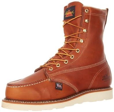 "Thorogood American Heritage 8"" Moc Toe Boot, Tobacco Gladiator, 7 2E US"