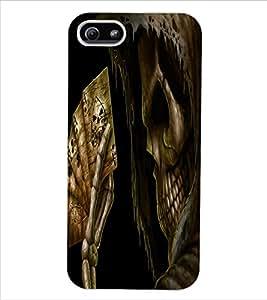 ColourCraft Skeleton Design Back Case Cover for APPLE IPHONE 5S