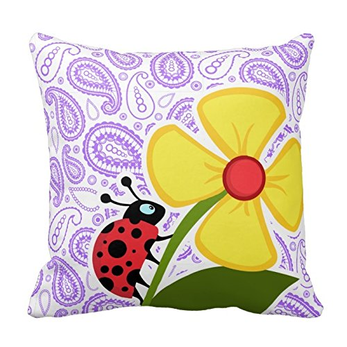 purple-paisley-pattern-ladybug-pillow-20-x-20-two-sides-bedding-home-decoration-square-throw-pillow-
