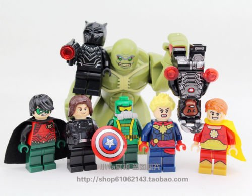 new 8pcs Minifigures Superhero Abomination Black Panther Building Blocks Toy