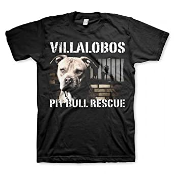 Pit Bulls & Parolees Unisex Villalobos Rescue Center Pit Bull Rescue T-Shirt Black Medium