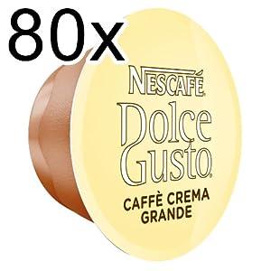 Buy 80 x Nescafé Dolce Gusto Caffè Crema Grande, 80 Capsules by Nestlé