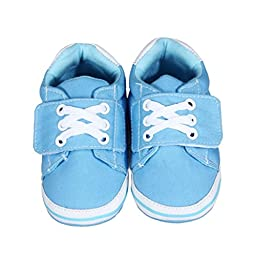 Voberry® Autumn Infant Toddler First Walkers Cotton Shoes Soft Bottom Sneaker (S, SkyBlue)