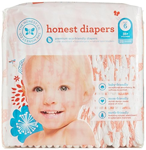 The Honest Company Disposable Diapers - Giraffe - Size 6 - 22 ct - 1