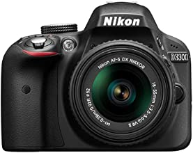 Nikon D3300 Digital SLR Camera with 18-55mm VR II Lens Kit - Black (24.2MP) 3.0 inch LCD
