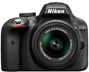 Nikon D3300 Appareil photo numérique Reflex 24,2 Mpix Kit Objectif AF-S DX VRII 18-55 mm Noir