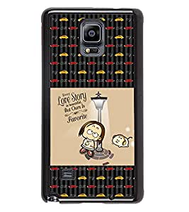PrintVisa Metal Printed Quotes Designer Back Case Cover for Samsung Galaxy Note 4 N910G -D4663