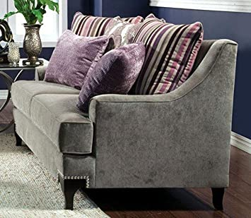 Viscontti Love Seat In Silver by Furniture of America