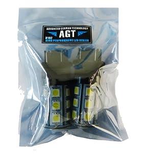 AGT 3157 3156 3057 Blue LED 18 SMD LED Bulbs Brake Signal Tail Backup (Pack of 2)