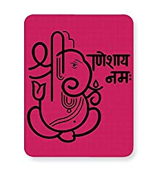 PosterGuy Mouse Pad - Shree Ganeshay Namah with Pink background | Designed by: Codeburnerz Technologies