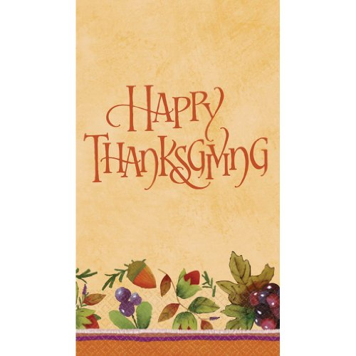 Thanksgiving Medley Guest Towels 16ct - 1