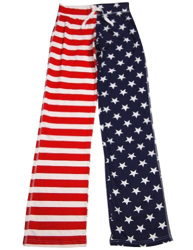 Fancy Girlz - Junior Girls Stars And Stripes Lounge Pant, Red, White, Blue 32641-Small front-686263