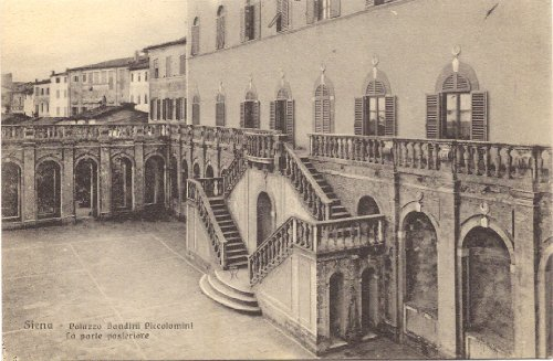 1910 Vintage Postcard Back Door of Palazzo Bandini