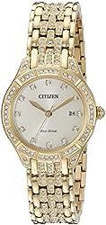 Citizen Women's 'Silhouette' Quartz Stainless Steel Casual Watch, Color:Gold-Toned (Model: EW2322-50P)