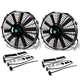 12 Inch High Performance Black Electric Radiator Cooling Fan Assembly Kit...