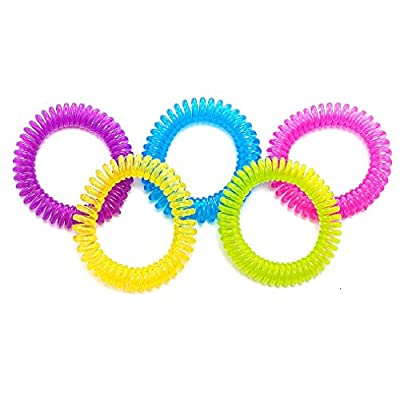 #1 Mosquito Repellent Bracelets - 10 Pack - 100% Natural, Deet Free - Waterproof Mosquitoes Repellent Band - For Adults and Children