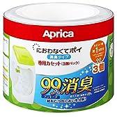 アップリカ 紙おむつ処理ポット におわなくてポイ 消臭タイプ 専用カセット 3個パック 09124 「消臭」・「抗菌」・「防臭」可