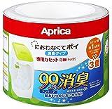 アップリカ 紙おむつ処理ポット におわなくてポイ 消臭タイプ 専用カセット 3個パック 09124 「消臭」・「抗菌」・「防臭」可 ランキングお取り寄せ