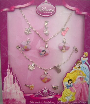 Disney Princess Jewellery Set Necklace Bracelet & Rings