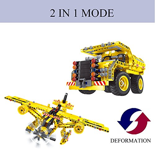 Gamzoo Building Blocks 2 in 1 Construction Dump Truck or Plane 361pcs Toys for Children (Rocky Dump Truck compare prices)