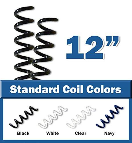 """10mm (3/8"""") Black Coil Bindings (Qty 100)"""