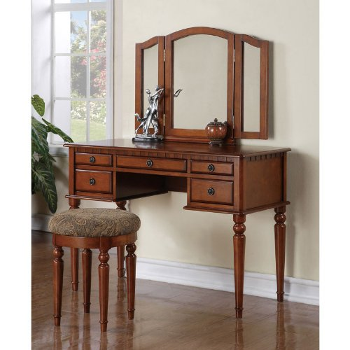 Awesome Bobkona St Croix Collection Vanity Set With Stool Machost Co Dining Chair Design Ideas Machostcouk