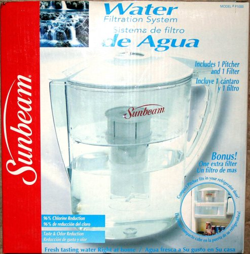 Sunbeam Water Filtration System Pitcher P1000 (Sunbeam Pitcher compare prices)