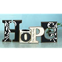 Cutout Word Collectible Hope With Tea Light Candle Holder Decoration