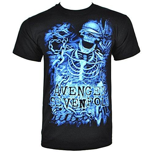 T Shirt Avenged Sevenfold Chained Skeleton (Nero) - Large