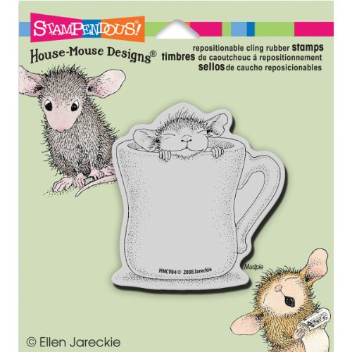 Stampendous House Mouse Cling Rubber Stamp, 5.5 by 4.5-Inch, Warm Cup (Rubber Stamps House Mouse compare prices)