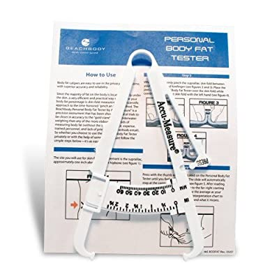Body Fat Tester Kit: Includes Caliper, Instructions and Measuring Chart