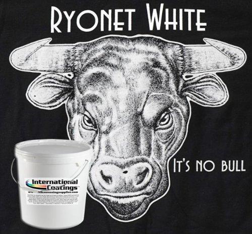 Ryonet White Plastisol 1 Gallon Formulated Screen Printing Press Ink IC54D-16CG