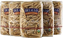 DeLallo Organic Whole Wheat Penne Rigate #36, 16 Ounce Units (Pack of 16)