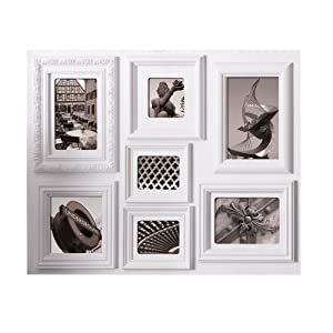 nexxt fuse collage picture frame 18 by 24 inch 7 opening white