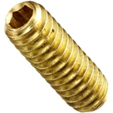 Brass Set Screw, Hex Socket Drive, Cup Point