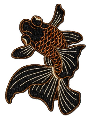 Fish Goldfish Diy Embroidered Sew Iron On Patch Gf-002 back-480206