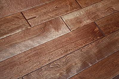 """Elk Mountain Maple Prairie Brown SOLID 3/4"""" x 4-3/4"""" Distressed Hardwood Flooring AH246 SAMPLE"""