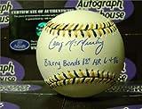 Craig McMurtry autographed Baseball inscribed Barry Bonds 1st HR 6-4-86