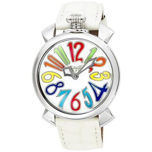 [ガガミラノ]GaGa MILANO 腕時計 MANUALE40MM ホワイトパール文字盤  カーフ革ベルト 50201-WHT  【並行輸入品】