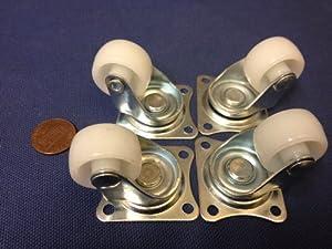 4x Robot Caster Gimbal Wheel Steering Wheel Car Tire Model Robotic Part DIY C4 from w