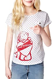 Pure Cotton Tatty Teddy & Heart Print Top [T74-0617C-S]