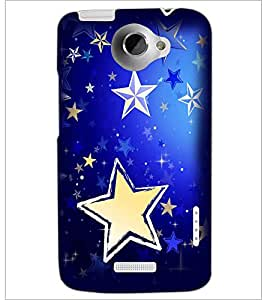 PrintDhaba Stars D-2285 Back Case Cover for HTC ONE X (Multi-Coloured)