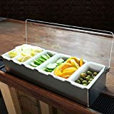 Stainless Steel Condiment Holder - 6 Pint