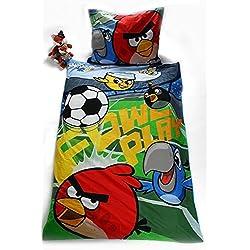 100% cotone Angry Birds Rio LETTO da bambini lenzuola copripiumino 140 x 200 cm pregiata, nuovo