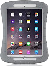 iXCC ® Shockproof Silicone Case Cover for All Apple iPad Air Models, Extreme Heavy Duty [Drop Proof, Kids Proof, Shock Proof, Anti slip] High Quality Rubber Soft Gel Material Offers Robust Protection for Kids, Baby, Children, Boys and Girls [Gray]