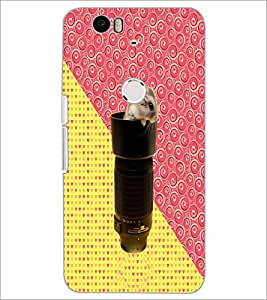 PrintDhaba Abstract Design D-5844 Back Case Cover for HUAWEI NEXUS 6P (Multi-Coloured)