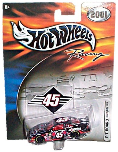 Hot Wheels Racing (NASCAR) - 2001 - PIT BOARD - Charity Ride - Kyle Petty - Dodge Intrepid #45 Replica (Black/Red) - 1